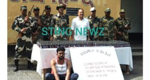 81 Bn. BSF recovers 653 bottles of cough syrup along Indo-Bangladesh border in Nadia. Arrests 1