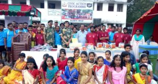 Volleyball competition held in Indo-Bangladesh border at Chapra, organised by 81 BN BSF