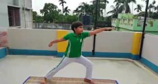 A tribute to India's rich heritage of Yoga by the students of Krishnagar Public School, Nadia